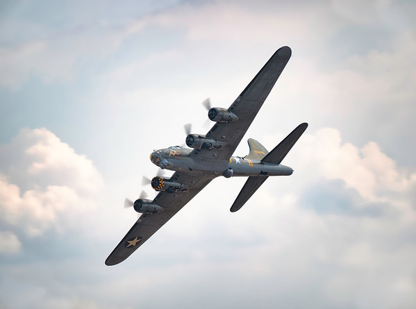 B-17 Flying Fortress G-BEDF Sally-B - Memphis Belle at Duxford Flying Legends Airshow 2018  By David Stoddart