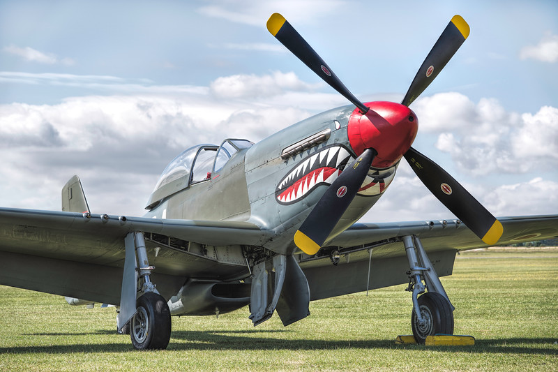 North American P-51D Mustang G-SHWN The Shark By David stoddart