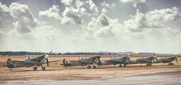 The Iconic Spitfires at the Iconic Duxford Airfield. By David Stoddart