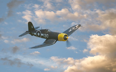 Goodyear FG-1D Corsair KD345 - G-FGID soaring over Duxford Airshow 2018 By David Stoddart