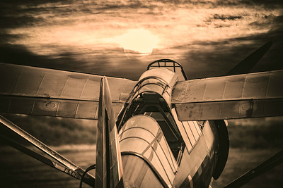 Westland Lysander V9367 - Sunset at Shuttleworth.  By David Stoddart