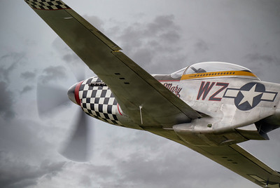 North American TF51D Mustang 'Contrary Mary' (G-TFSI) Up Close at Duxford Flying Legends 2019  By David Stoddart