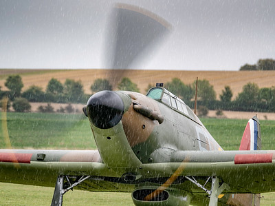 Hawker Hurricane in the rain at 1/60th - Duxford Battle of Britain Airshow 2018  By David Stoddart
