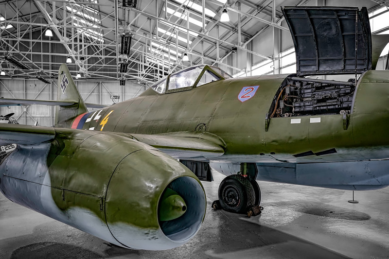 Messerschmitt Me 262A-2a Schwalbe (Swallow) at RAF Cosford. By David Stoddart