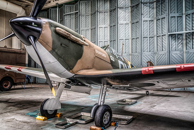 My favourite #spitfire N3200 in the Hangar. By David Stoddart