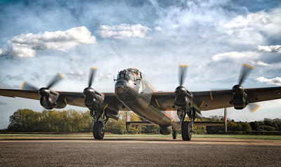 The Majestic Lancaster Just Jane NX611 Taxiing By David Stoddart