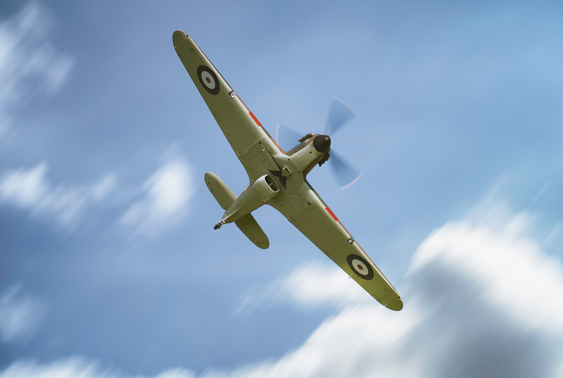 Hawker Hurricane Mk I P3717 Through the clouds at Shuttleworth Airshow 2018  By David Stoddart
