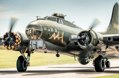 B-17 Flying Fortress G-BEDF Sally B By David Stoddart