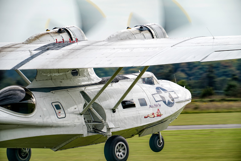 Consolidated Catalina PBY5A Miss Pick Up Taking off. By David Stoddart