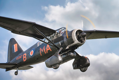 Westland Lysander V9367 taking off at  by David Stoddart