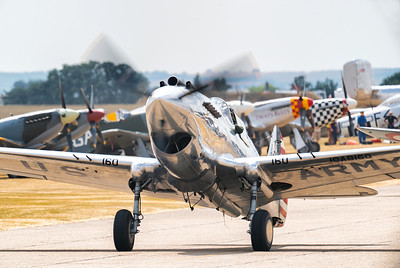 Curtiss-Wright P.40C (G-CIIO) 41-13357 Taxiing out at Flying Legends Airshow 2018  By David Stoddart