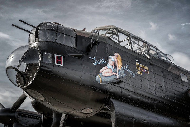 "Lancaster NX611 ""Just Jane"" nose art. By David Stoddart"