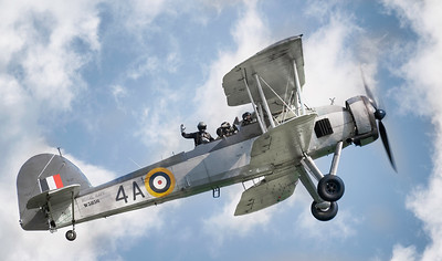 Fairey Swordfish W5856 at Duxford Airshow 2018 By David Stoddart