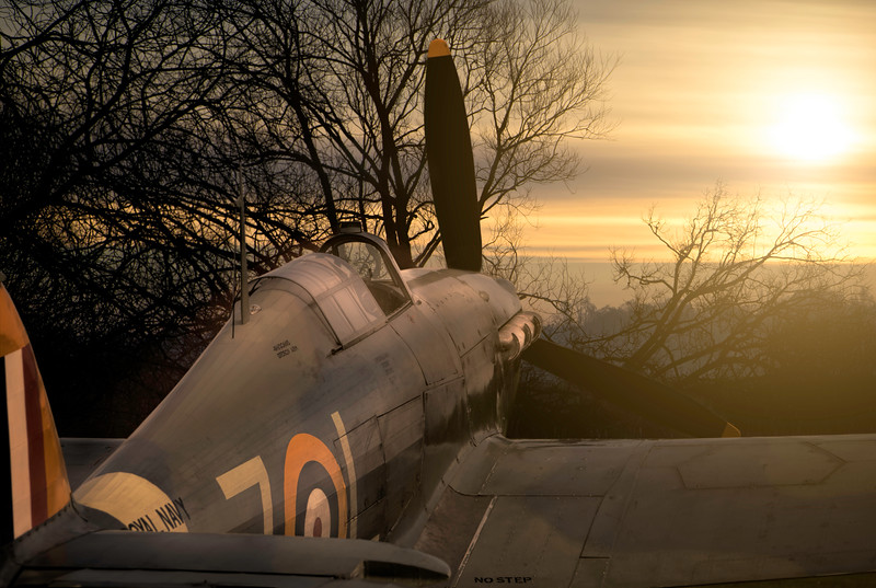 Hawker Sea Hurricane 1B at Dawn. By David Stoddart