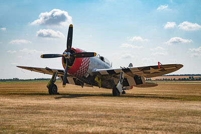 "Republic P-47D Thunderbolt 549192 ""Nellie"" on the flightline at Duxford Flying Legends Airshow 2018  By David Stoddart"