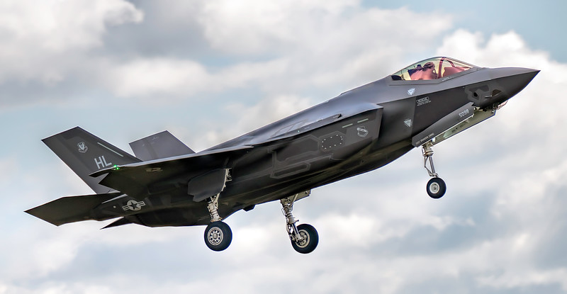 F35A Lightning 14-5098 Coming into land at Lakenheath. By David Stoddart