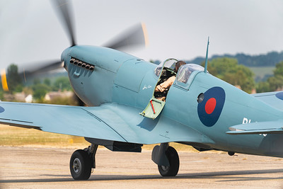 Supermarine Spitfire PRXI PL983 (G-PRXI) Taxiing out at Flying Legends Airshow 2018 By David Stoddart