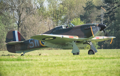 Hawker Hurricane P3717 Ripping up some turf! By David Stoddart