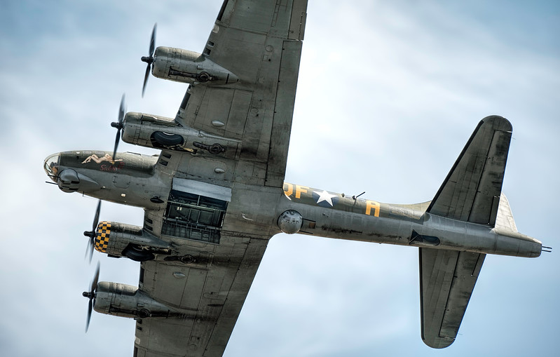 Sally B Boeing B-17G G-BEDF Bomb Bay open ! By David Stoddart