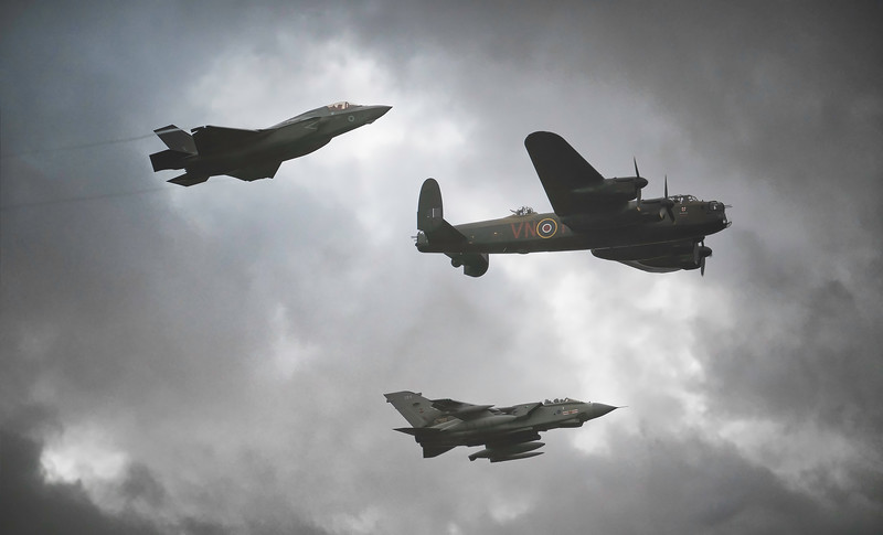 The 617 Squadron Flypast at Duxford Battle of Britain Airshow 2018 By David Stoddart
