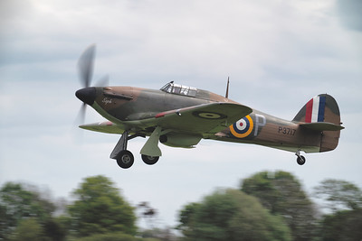 Hawker Hurricane Mk I P3717 Taking off at Shuttleworth Airshow 2019 By David Stoddart