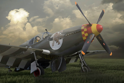 "P51-B Mustang ""Berlin Express"" By David Stoddart"