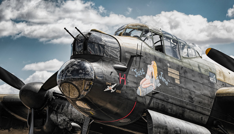 "Lancaster ""Just Jane"" NX611 Nose Art Details. By David Stoddart"