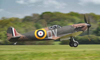 Supermarine Spitfire Mk Ia N3200 Taking off By David Stoddart
