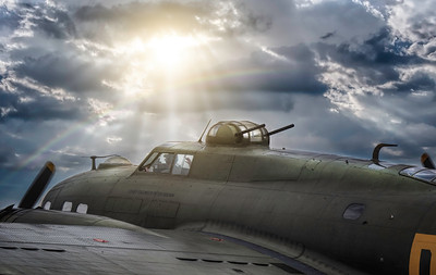 "B17 Flying Fortress ""Sally B"" after the storm. By David Stoddart"