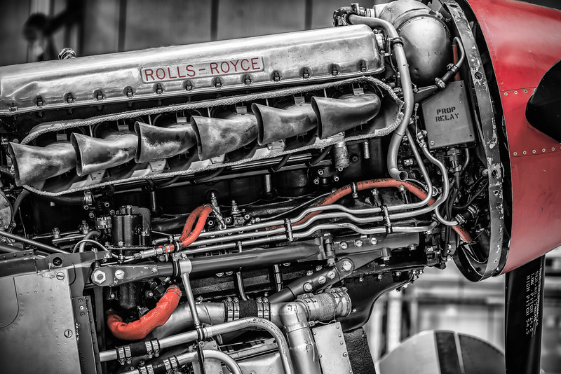 """Lifeblood"" - Curtiss-Wright Warhawk P40F (G-CGZP) ""Lees Hope"" Rolls Royce Merlin 500 Engine Close Up Zoom in and check the detail from the Sony A7Riii! By David Stoddart"