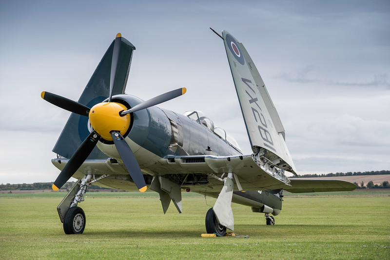 Sea Fury T.20 G-RNHF VX281 on the Flight Line By David Stoddart