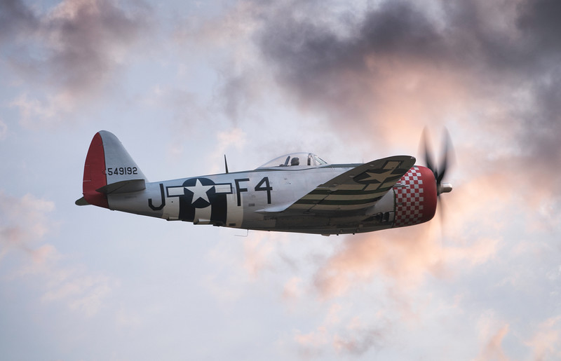 "Republic P-47D Thunderbolt 549192 ""Nellie The Jug"" ripping up the skies at Flying Legends Airshow 2018 By David Stoddart"