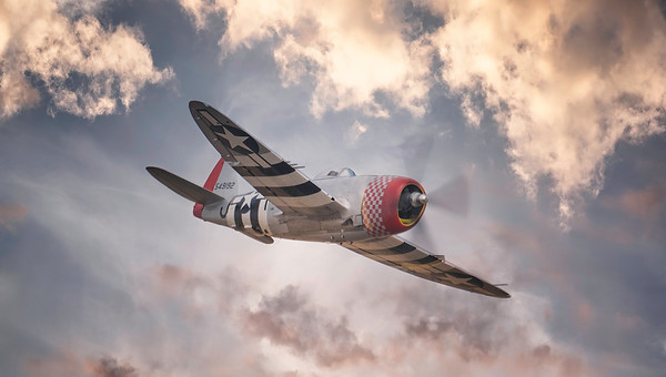 "P-47D Thunderbolt ""Nellie"" at Flying Legends 2018 By David Stoddart"