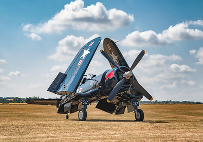 F4U-4 Corsair (OE-EAS) Sunbathing at Flying Legends Airshow 2018 By David Stoddart