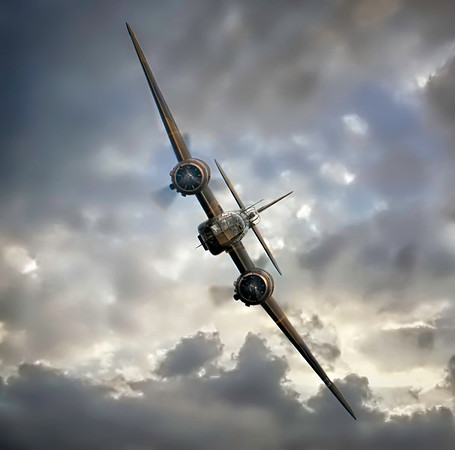 The incredible Bristol Blenheim Head On! By David Stoddart