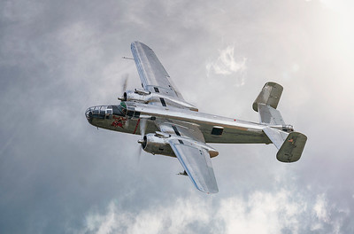 B-25J North American Mitchell (N6123C) at Duxford Flying Legends Airshow 2018 By David Stoddart