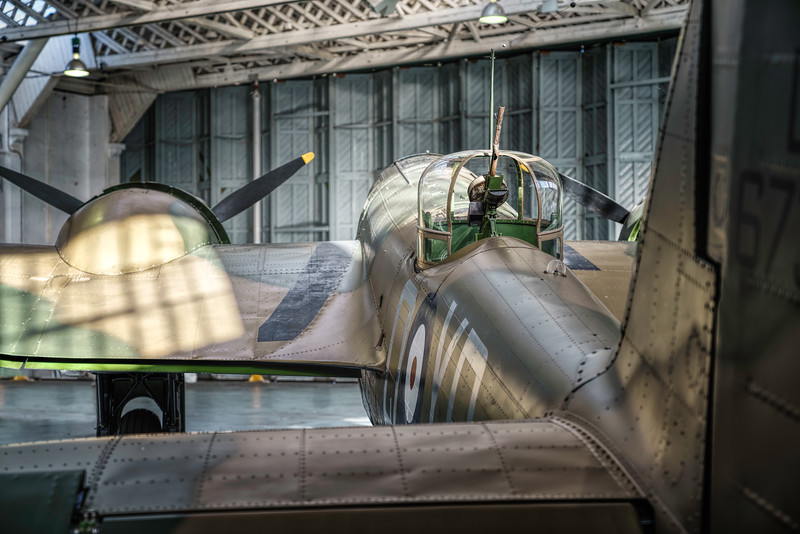 Bristol Blenheim Mk IF L6739 in the hangar for Winter maintenance. By David Stoddart