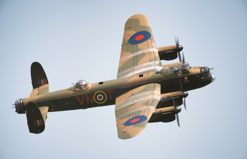 "BBMF Avro Lancaster Bomber PA474 ""Leader"" in Blue Skies at Shuttleworth Airshow 2018  By David Stoddart"