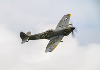 Supermarine Spitfire Mk XVI TE311 With a wave from the Pilot at Shuttleworth Airshow 2019  By David Stoddart