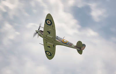 Supermarine Spitfire Vb BM597 (G-MKVB) Soaring over Flying Legends Airshow 2018 By David Stoddart