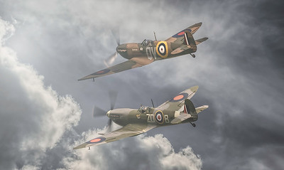 Supermarine Spitfires N3200 and MH434 By David Stoddart