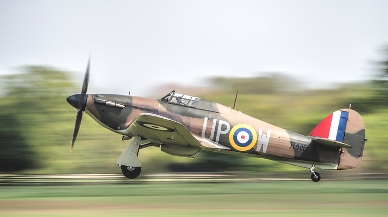 Hawker Hurricane R4118 departing at 1/40th! By David Stoddart