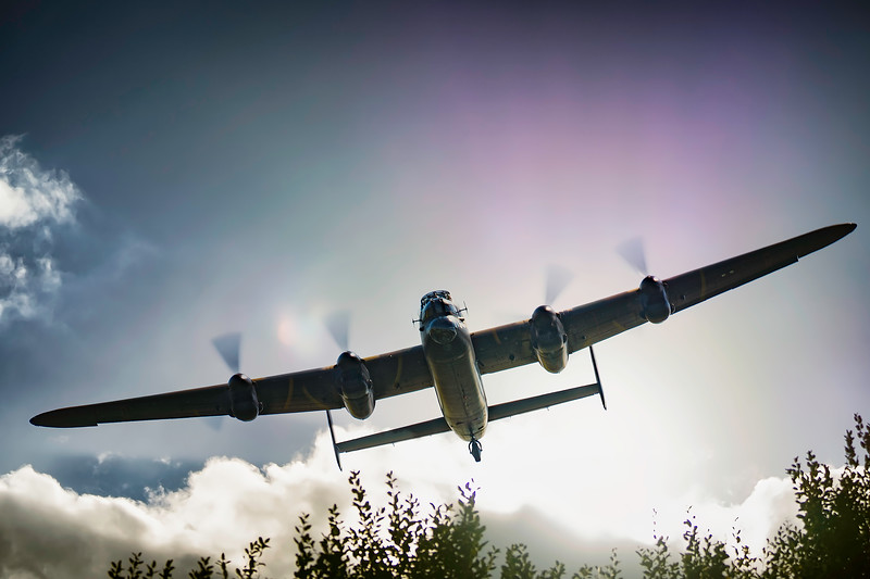 "BBMF Avro Lancaster Bomber PA474 ""Leader"" Out of the Sun!  By David Stoddart"