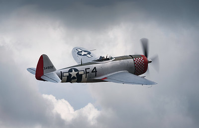 "Republic P-47D Thunderbolt 549192 ""Nellie The Jug"" over Flying Legends Airshow 2018  By David Stoddart"