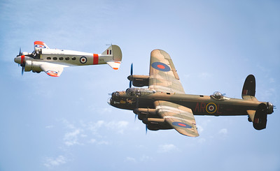 The Avro Sisters . Avro Anson TX176 and Avro Lancaster PA474 By David Stoddart