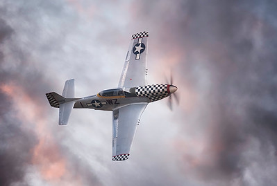 North American TF51D Mustang Contrary Mary (G-TFSI) Breaking through at Flying Legends Airshow 2018 By David Stoddart