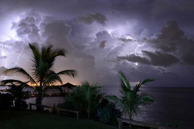 Lightning over South Sound, Grand Cayman, Cayman Islands.