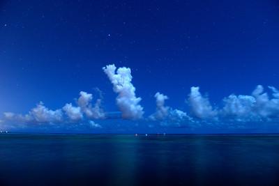 Night Sky with stars, Cayman Islands.