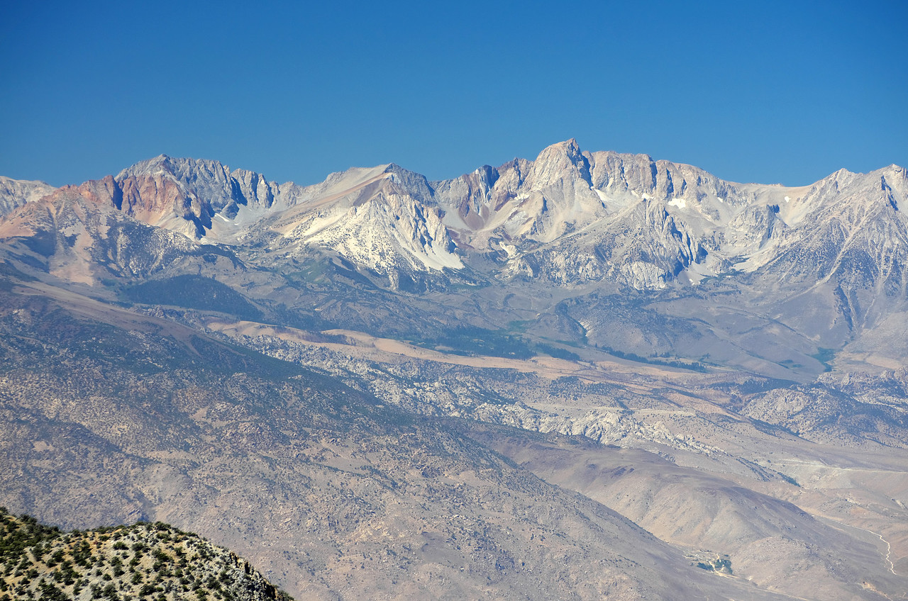 Mount Emerson and Mount Humphreys from the Sierra View Point Vista.