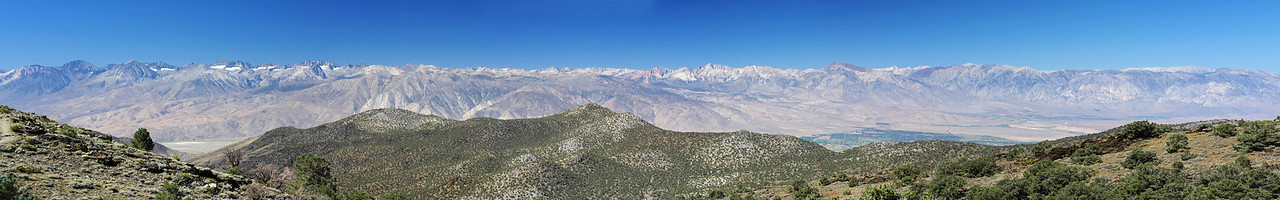 Panoramic view looking west from the Sierra View Point Vista.